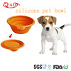 2014 hot portable collapsible silicon dog feeder bowl as seen on tv