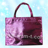 cheap price foldable printed laminated eco recyclable pp non woven plastic bag packaging for shopping