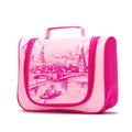 Yiwu wholesale fashion convenient rose red traveling cosmetic washing bag