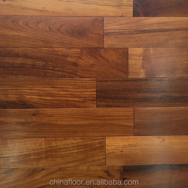 interior High class Brown color Burma Teak solid wood flooring