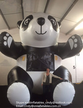 Giant Inflatable Animal Inflatable Panda Model ,Inflatable Character Panda for advertising