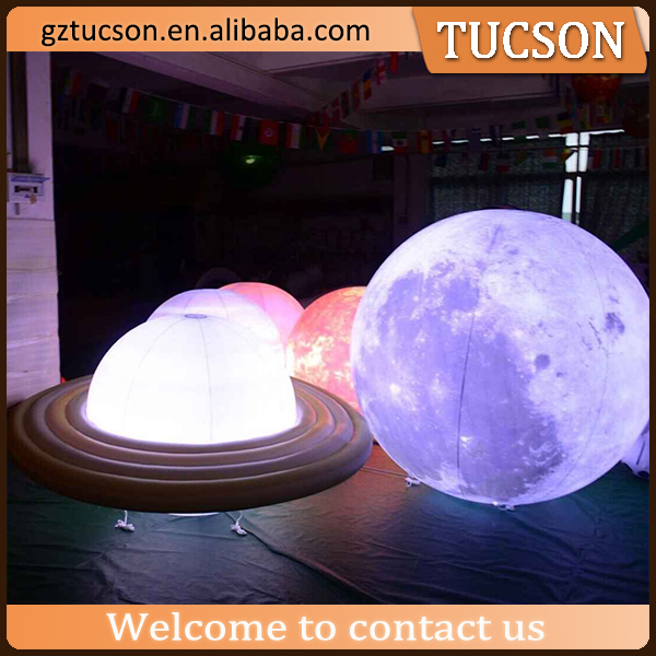led light inflatable balloon saturn earth nine planets