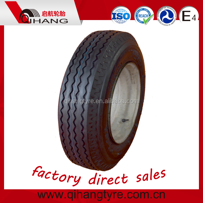 Chinese price best qingdao rubber top brands FORERUNNER cover 7x14.5 8-14.5 for trailer mobile-home tires with rim