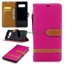 High Quality Flip Leather Wallet Phone Case For Samsung Note 8