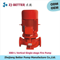 5.5kw XBD-L vertical fire pump ul fm /high pressure water pump for fire engine/fire fighting pumps