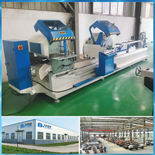 Double heads cutting saw aluminum window door machine