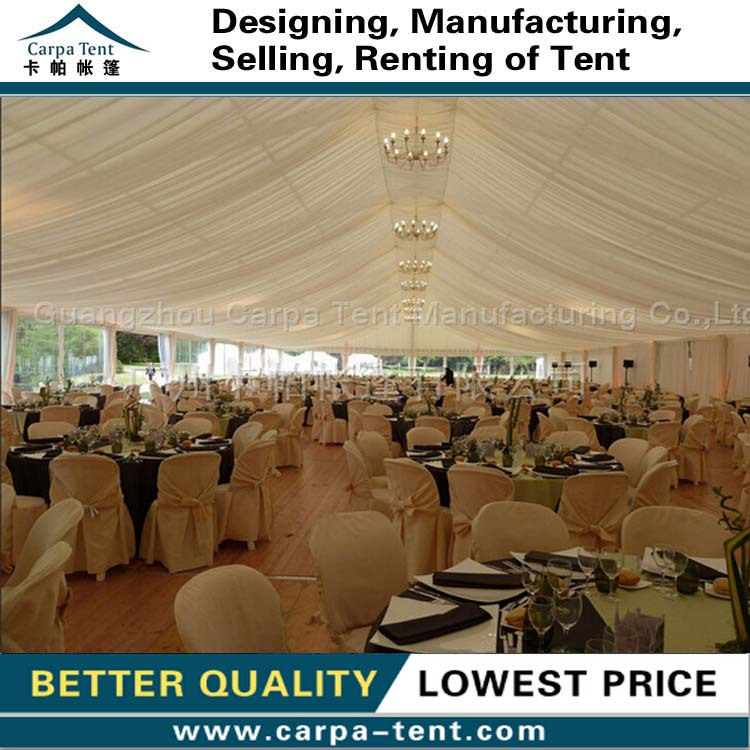 Aluminium clearspan structure PVC party tents with party tent drapes for sale 20x45m