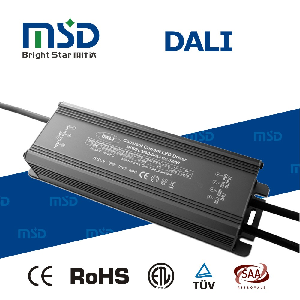 100W High PFC led converter Supply 90-265V Constant Current dali dimmable led driver for LED Light Lamp