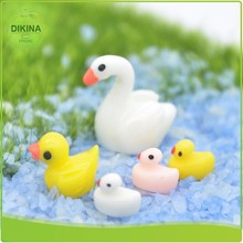 jewelry micro landscape mininature decoration of bonsai House dolls plants garden Lucky mini yellow resin duck figurines