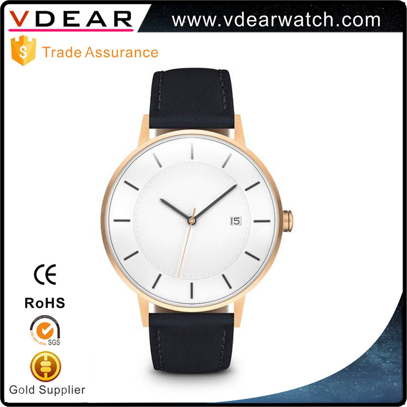 Charming auto date 3 atm water resistant luxury watch men customized watch faces with your own logo