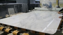 Century Mosaic Polished Statuary White Natural Marble Stone Slab