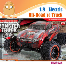 Mini Tudou High quality 2.4Ghz 1:8 4-Wheel Drive Waterproof High speed Off-Road rc Electric racing Trial car monster truck