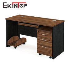 Wholesale l shaped wooden iron melamine office computer desk with bookshelf for sale