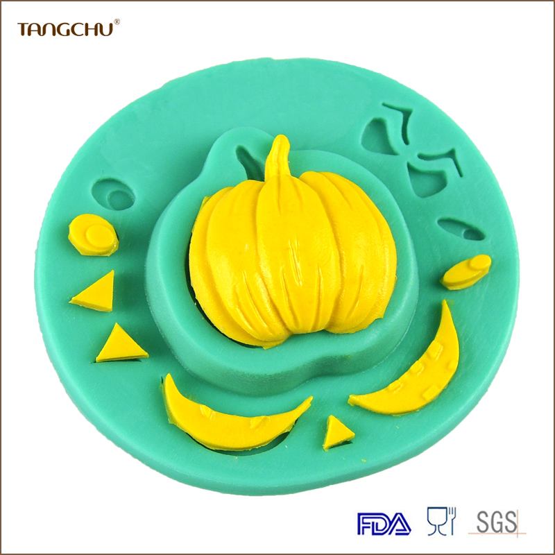 Halloween Pumpkin Expression Shape Silicone Mold Easy off Cake Tool Baking Mold