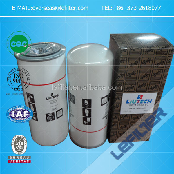 Liutech air compressor oil filters 6211473550 fuda oil filter