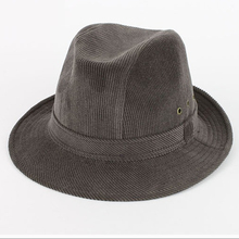 classics corduroy felt top winter Folar hat for men
