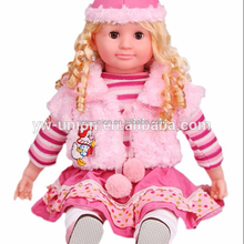 fashion singing doll baby , porcelain music doll 22 inch for baby
