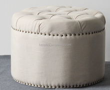 For Promotion Cheap Price Wholesale Round Storage Fancy Stool Ottoman
