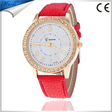 China Cheaper 2017 Diamond Men Quartz Ladies Geneva Watch Popular Style Women Casual Lady Wristwatch GW089