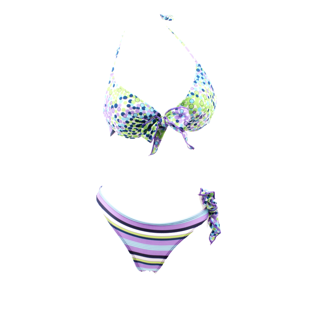 Hot SALES 2017 Sexy swimwear WOMEN Girl Bikini set Purple Dot painting