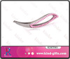 Bling Bling high class crystal embellished 2013 best design stainless steel good eyebrow tweezer