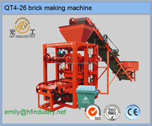 semi automatic machine QTJ4-26 hand type easy operate low investment paver brick machine