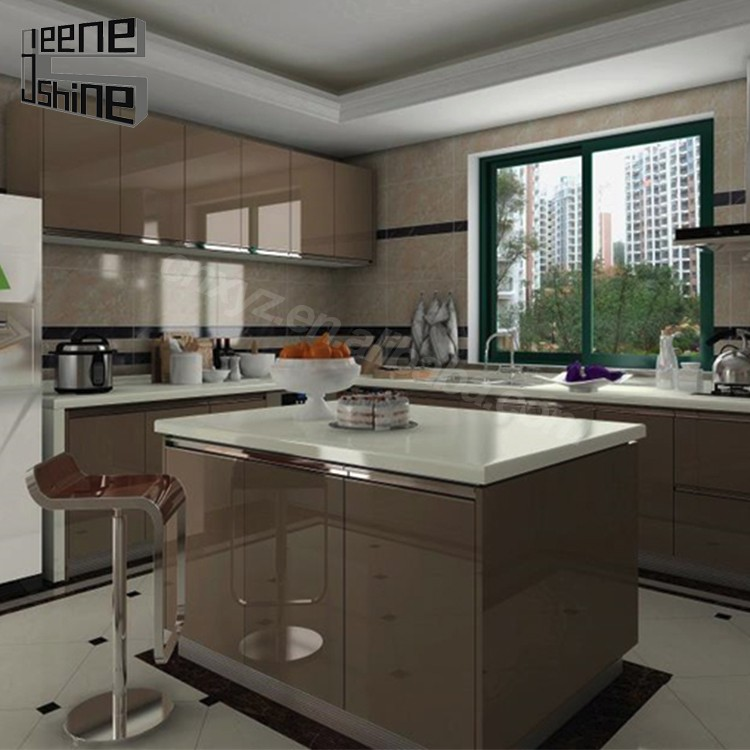 Trade assurance china factory price modular acrylic for Acrylic kitchen cabinets cost