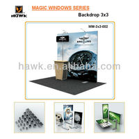 Hawk exhibition booth design and building services( MW-3x3-001 backdrop)