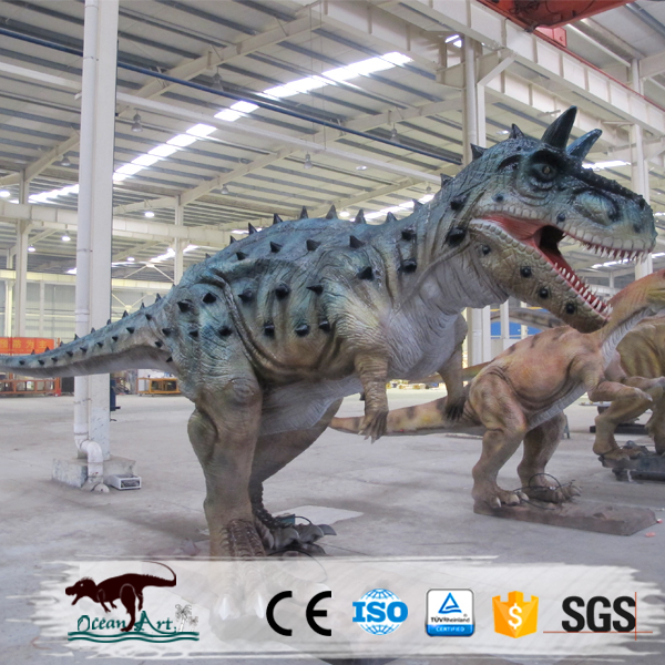 OAZ3236 Artificial high tech lifesize wooden dinosaur model for amusement park/exhibition