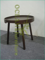 2014 new style round shape nest wooden ikea coffee table