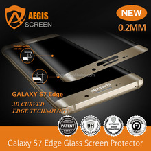 For Samsung galaxy S6 edge Full Screen Cover 3D Curved Tempered glass Samsung galaxy s6 edge