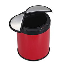 Color red great household trash bin