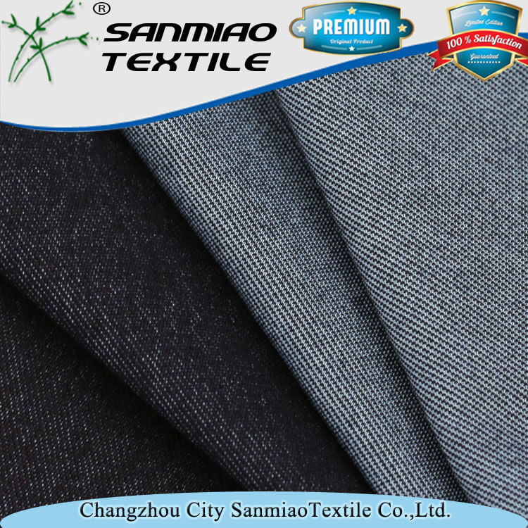 Factory price knit polyester spandex cotton twill fabric for trousers WHTP-1701