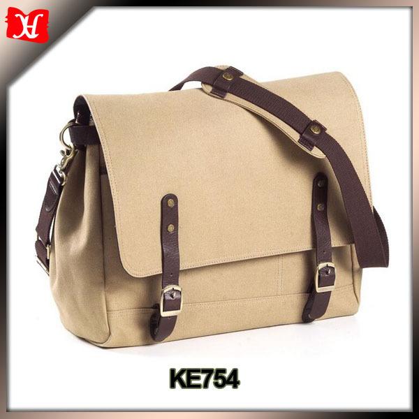 canvas shoulder messenger school bag