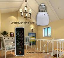Digital RF Remote Control RF Light Socket E27 Wireless RF Lamp Light Socket with Learning Function