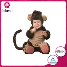 Supply animal costume for kids baby monkey costume carnival dress
