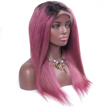 dark roots black pink wig real remy human hair ombre lace front wig glueless full lace wigs wholesale