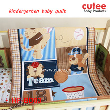 Wholesale Lovely Animal Cartoon Pattern Printed Patchwork Kindergarten Baby Quilt