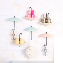 Colorful Umbrella Shaped Creative Hanger Decorative Holder Pasties Wall <strong>Hook</strong> For Kitchen Bathroom Accessories Set