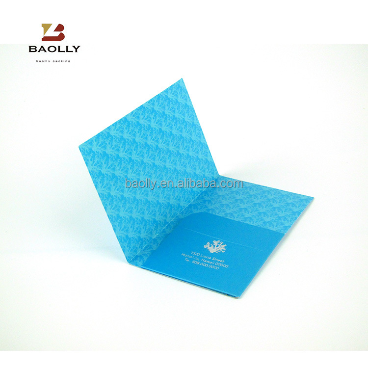 Rectangle folded paper box for invitation card packaging