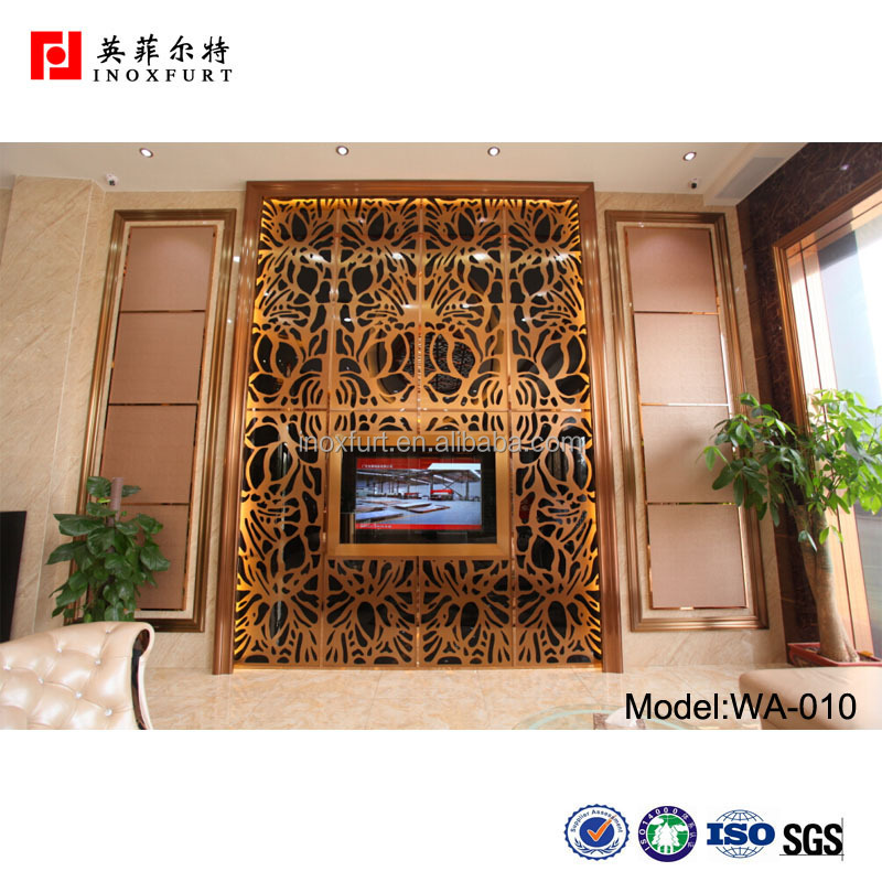 Custom Decorative Laser Cutting Stainless Steel Room Divider Screen Stainless Steel Partition