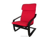 LINK-V187 Bentwood armchair with cushion -red cover