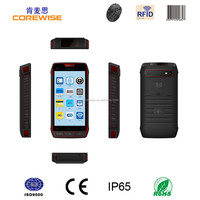 "Waterproof 3G / 4G 5.0"" touch screen Android quad core smart mobile phone datalogic barcode scanner, supermartket barcode reader"