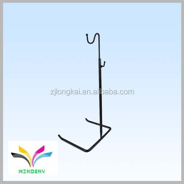 Fashion design portable metal hanging factory directly tabletop wholesale handbag display stand