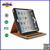China Factory Luxury PU Book Case for Apple iPad Air for iPad 5