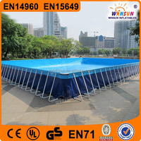 Good sale swimming rectangular PVC above ground metal frame pools with CE EN71 approved