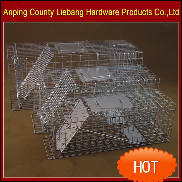 Live Animal Trap Cage for Squirrel Mink Weasel Cat Dog Rat