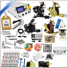 LED power supply 4 guns tattoo machine kit, handmade equipment complete tools tattoo machine, wholesale China tattoo machine set