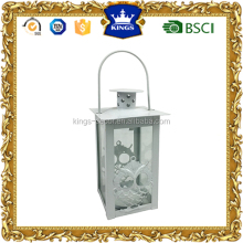 White owl desgin metal candle lantern for decoration