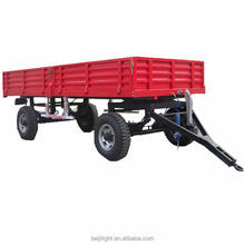 4 Wheels 5T Farm Tractor Trailer Tipping Trailer For Sale